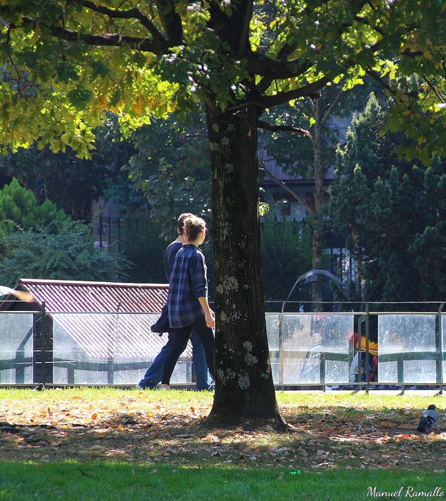 Paseando por el jardín del Posío Ourense Orense