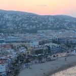Playa y pueblo de Peñíscola desde el castillo fortaleza del Papa Luna