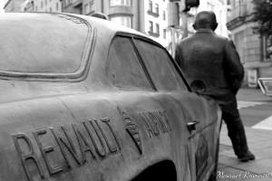 Renault Alpinche Reverter Colemán Rallye Ourense escultura Parque San Lázaro Ourense