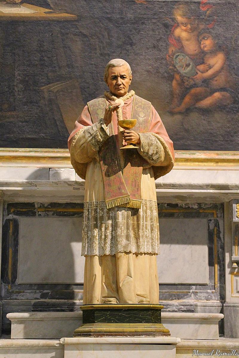 San Pío X imagen escultura catedral de Cádiz Andalucía España