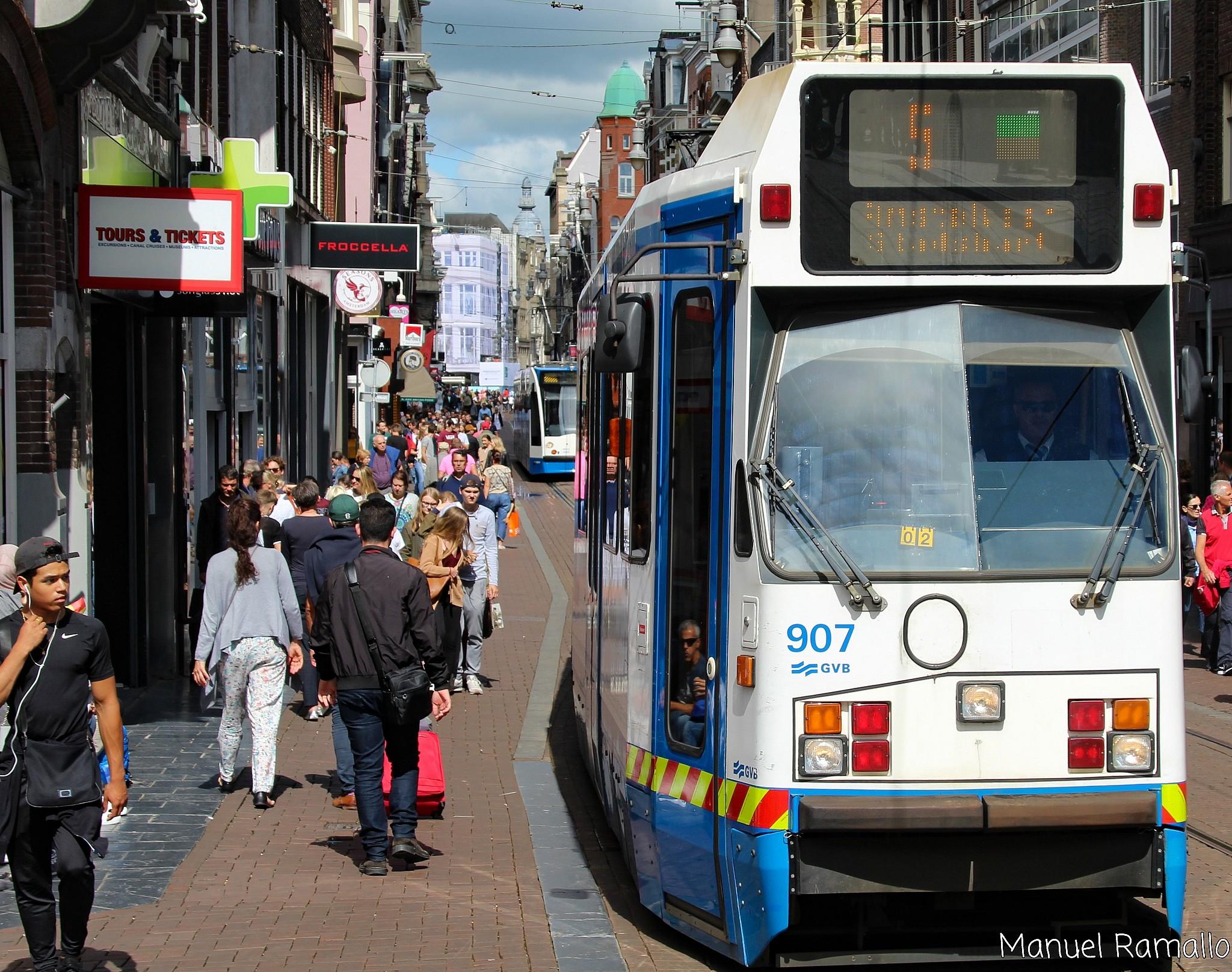 tranvia-calle-amsterdam-holanda-paises-bajos