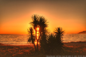 Cálido Atardecer en Playa América