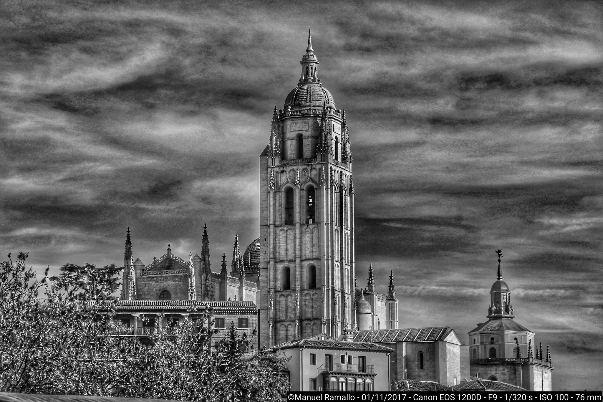 Catedral de Segovia Blanco y negro