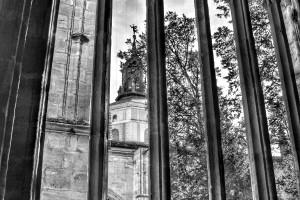 Claustro catedral Segovia Blanco y negro