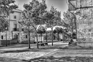Soledad en la plaza Ciudad Rodrigo