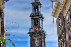 Torre del reloj iglesia Ámsterdam