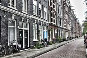 Una calle cualquiera de Ámsterdam