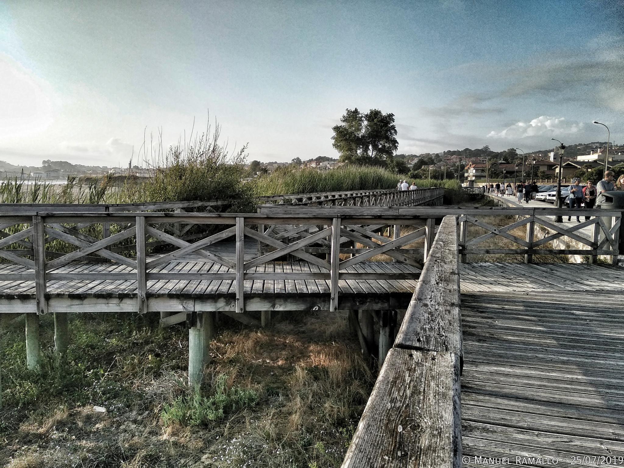 Paseo marítimo playa América Pontevedra